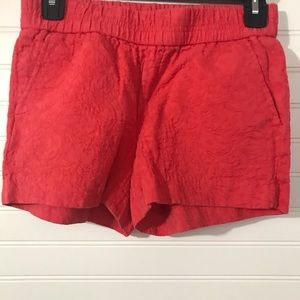 J. Crew coral textured shorts